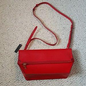 J Crew bennett red cross body bag